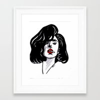 sin city Framed Art Prints featuring Sin City by Tante Sui