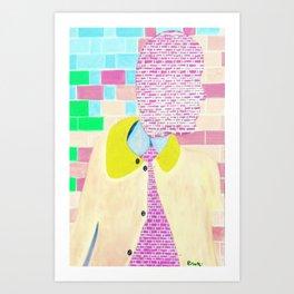 Brick Man Art Print