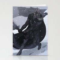 skyrim Stationery Cards featuring Skyrim - Argonian Nightingale by DJ Coulz