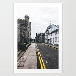 Caernarfon streets Art Print