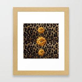 Animal Print Cheetah Triple Gold Framed Art Print