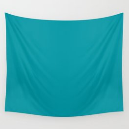 Turquoise Blue Teal | Solid Colour Wall Tapestry
