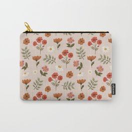 Among the Wildflowers Pattern Carry-All Pouch