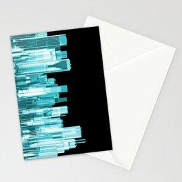 Hologram city panorama Stationery Cards
