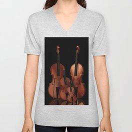 String Instruments Unisex V-Neck