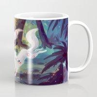okami Mugs featuring Follow Me by Freeminds
