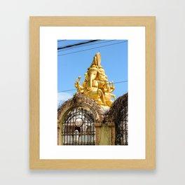 Symmetrical Ganesh Statue Framed Art Print