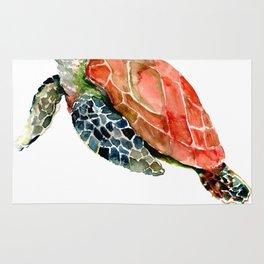 Sea Turtle, turtle art, turtle design Rug