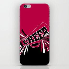 Hot Pink Cheerleader Design iPhone Skin