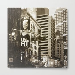 Live Fit Metal Print
