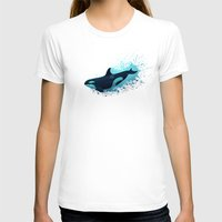 biology T-shirts featuring Lost in Serenity ~ Orca ~ Killer Whale by Amber Marine