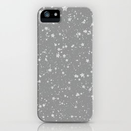 Glitter Stars4 - Silver iPhone Case