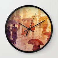 takmaj Wall Clocks featuring Summer day by takmaj
