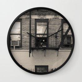 Portrait of a Dog - Urban City Landscape Photography Wall Clock