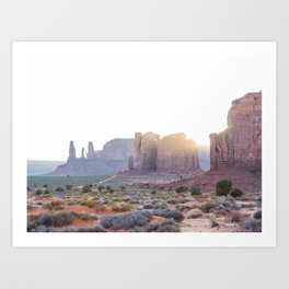 Monument Valley at Sunset Art Print