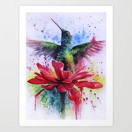 Rising from a Flower Art Print