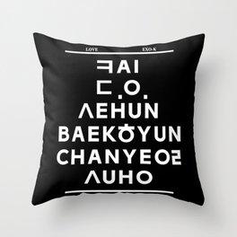"""EXO K- Hangeul: """"Love City"""" Inspired (Black Ver.) Throw Pillow"""