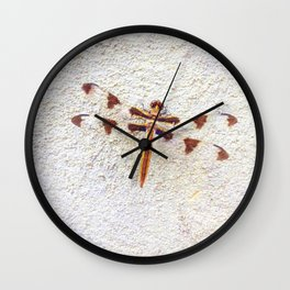 Dragonfly on Wall   Nature Photography   Dragonflies   Nadia Bonello Wall Clock