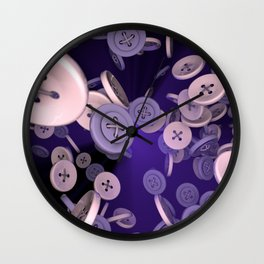 Raining Buttons Wall Clock