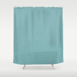 Knitted spring colors - Pantone Island Paradise Shower Curtain