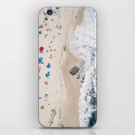Beachin' it aerial photograph iPhone Skin