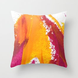 Wings Collection orange/pink Throw Pillow