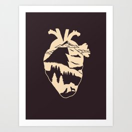 The Heart Art Print