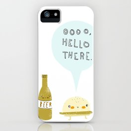 burger and beer iPhone Case