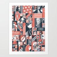 pulp Art Prints featuring Pulp by Eleni Kalorkoti