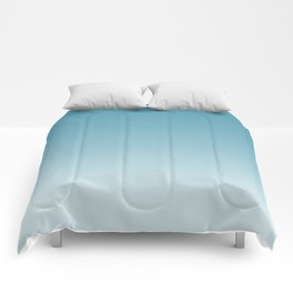 Ombre Damask Blue Comforters