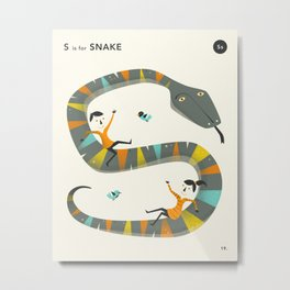 S is for SNAKE Metal Print