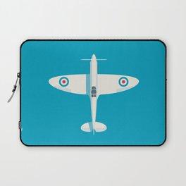 Supermarine Spitfire WWII fighter aircraft - Cyan Laptop Sleeve