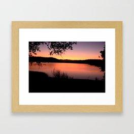 LAKE HENNESSEY - NAPA CALIFORNIA - SUNSET REFLECTION Framed Art Print