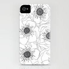 White Anemones Slim Case iPhone (4, 4s)