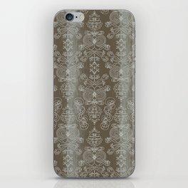 Elena, battleship grey ornate iPhone Skin