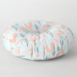 Coral Reef Floor Pillow