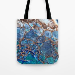 Marbled Ice Tote Bag