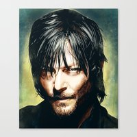 daryl dixon Canvas Prints featuring Daryl Dixon by p1xer