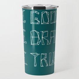 Be Love [in mid ocean teal] Travel Mug