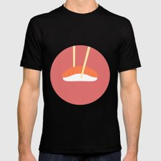 #16 Sushi Black Mens Fitted Tee MEDIUM