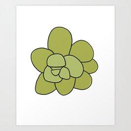 Succulent Art Green Succulent Art Print