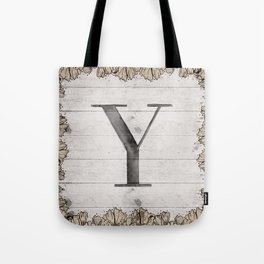 Neutral Monogram Y Tote Bag