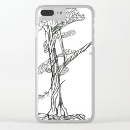 Tree on Bank of Eno Clear iPhone Case