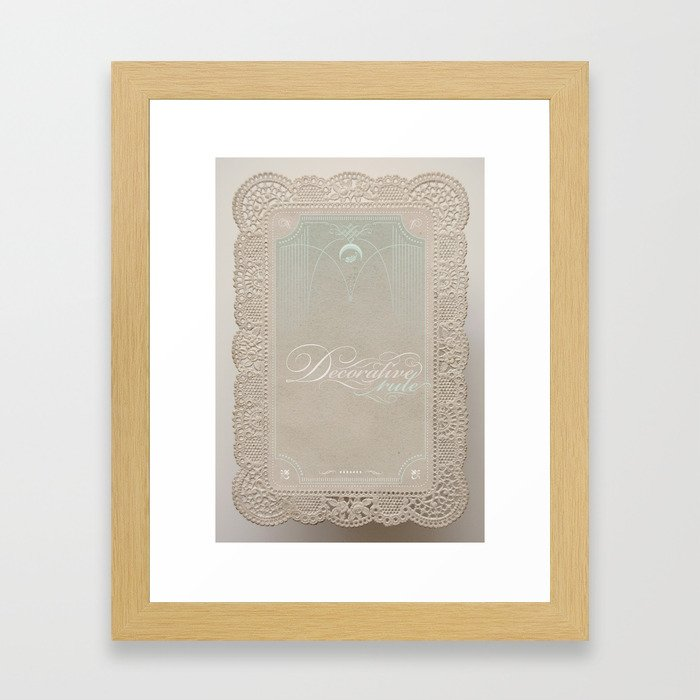 Decorative Rule Framed Art Print