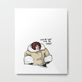 Baby Ikea Monkey Metal Print