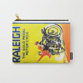 Raleigh Motorcycle, vintage poster Carry-All Pouch
