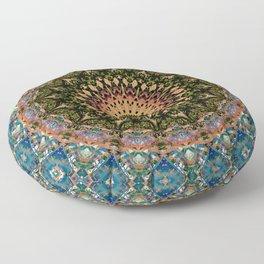 Glitch Mandala Oasis Floor Pillow