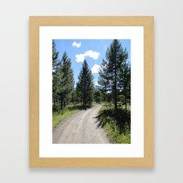 those smiling skies. Framed Art Print