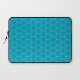 Bright Blue Poka Dot Design Laptop Sleeve