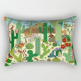 Arizona Desert Museum Rectangular Pillow